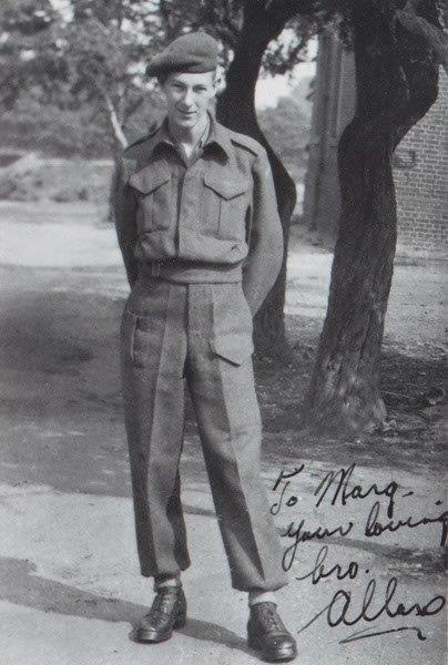 Allan Robert McMillan standing– Picture sent to Sister Margaret