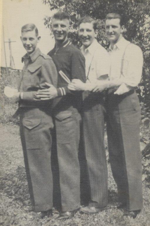 August 1942– last reunion of the four brothers.L-R Allan,William,Colin(MM),Duncan.