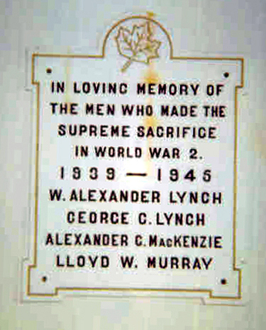 Memorial– Knox Presbyterian, Lloyd Murray