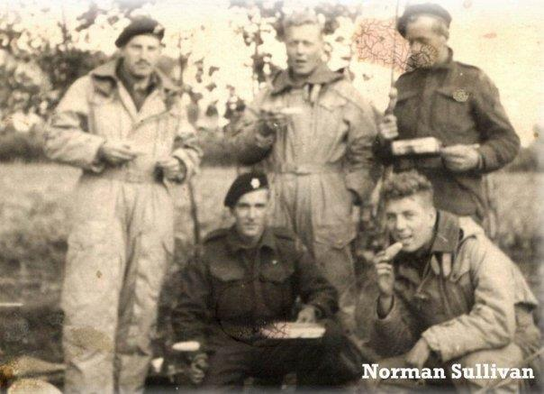 Group Photo– Alvin V. Roop with tank crew members.  All perished April 28, 1945.