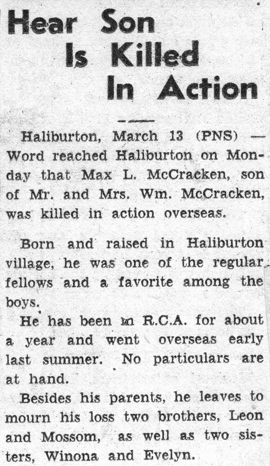 Newspaper Clipping– Submitted for the project, Operation:Picture Me