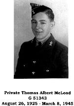 Photo of Thomas Albert McLeod– Private Thomas Albert McLeod