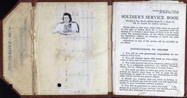 Service Book– Found in service file. Submitted for the project, Operation Picture Me