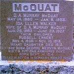 Grave Marker– Guardsman George Mervyn McOuat is remembered on the family grave marker located in the Lachute Protestant Cemetery, Quebec.