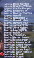 Memorial– Flying Officer Donald Morrison is also commemorated on the Bomber Command Memorial Wall in Nanton, AB … photo courtesy of Marg Liessens