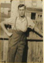 Photo of Joseph Muise– Arthur in the back yard, pre war?