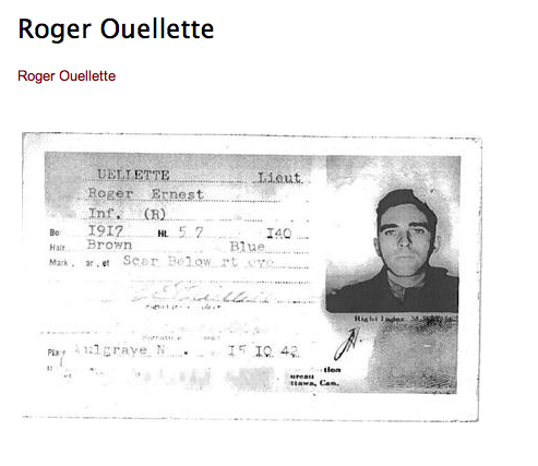 Photo of Roger Ouellette– Submitted for the project, Operation: Picture Me