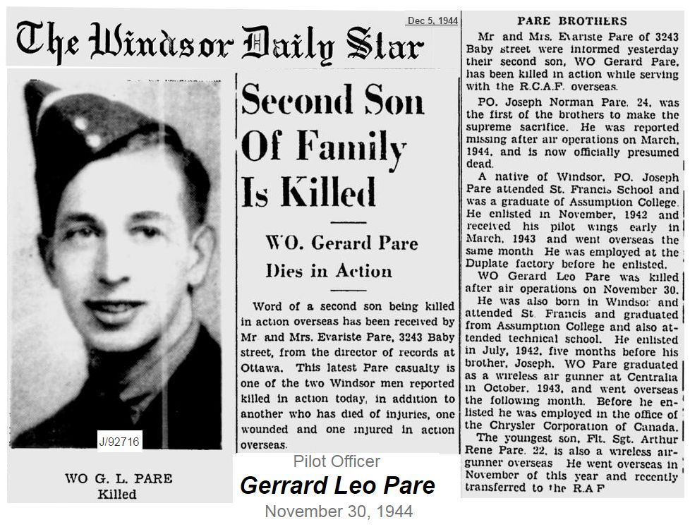Newspaper Clipping– Image source from the Windsor Daily Star