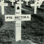 Original Burial Plot– Original Burial Plot of Pte. Angus Rector, Higland Light Infantry of Canada, RCIC(formerly of the Loyal Edmonton Regiment)
