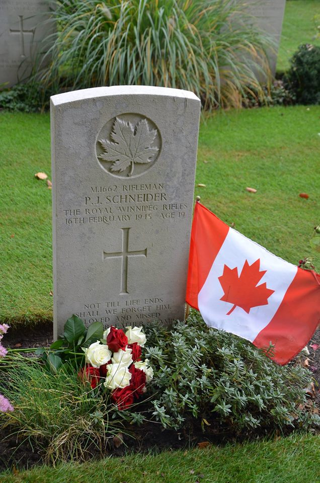 Grave marker– September 2012 - The flag was at the grave site when I arrived to lay the roses. A rose for each of his brothers and sisters, one of which was my grandfather. My grandmother still has the last letter that Uncle Jack wrote to her, dated February 14, 1945. For as long as I could remember my grandmothers birthday was always a solemn occasion, which I never understood until I visited Uncle Jack's grave. I never knew that he was killed on her birthday.