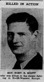 Newspaper clipping– Photo from The Red Deer Advocate 21 Mar 1945