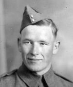Photo of Richard Valentine Sells– Richard Sells prepared for military service.