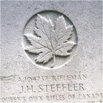 Grave Marker– This photo of Rfn Steffler's gravemarker was taken in June 2003.