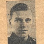 Obituary– This photo-obituary of Rifleman Struk was obtained from a Toronto newspaper by Mrs Josie McQuade in 1945.
