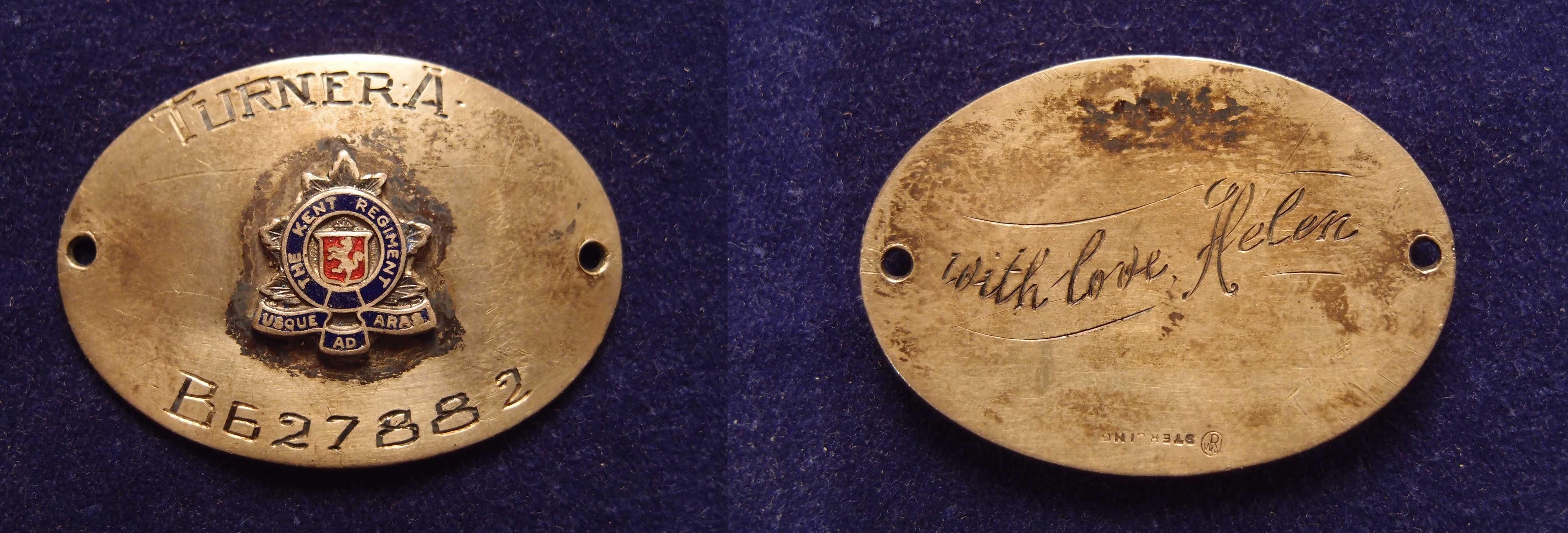 Bracelet– Kent regiment bracelet from his wife Helen Forster.