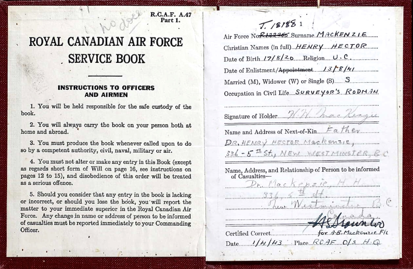 Service Book– Submitted for the project Operation Picture Me