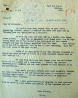 Letter– Letter explaining circumstances of crash. LAC, Ottawa