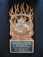 Plaque– Plaque gifted to the French group who recovered Harry's engine which became a memorial solemnized at Sacy le Grand June 25, 2011. A number of the MacKenzie family present.
