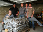 Group Photo– The French group who worked for two years at recovering JR 523 (Harry's plane and engine) from the swamps of Sacy.  Photo of group, from left to right : Gérard Lequien, Anthony  Pitois, Eric Fardel, Sylvain Chedeville, and Dominique Lecomte