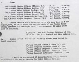 Document– Information on crew members