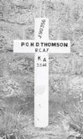 Grave marker– Original cross marker at grave