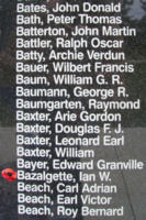 Memorial– Squadron Leader Pilot Ian Willoughby Bazalgette is also commemorated on the Bomber Command Memorial Wall in Nanton, AB … photo courtesy of Marg Liessens