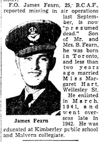 Newspaper clipping– From the Toronto Star May 1944. Submitted for the project Operation Picture Me
