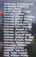 Memorial– Flight Sergeant Andrew Holmes is also commemorated on the Bomber Command Memorial Wall in Nanton, AB … photo courtesy of Marg Liessens