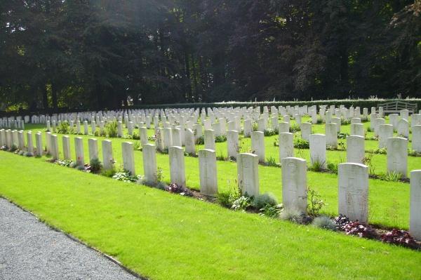 Cemetery– View of Plot 3 … Schoonselhof Cemetery … photo courtesy of Marg Liessens
