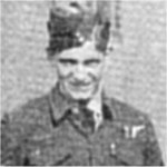 Photo of Roy Hazael– On 28 April 1944, the Halifax Bomber that Roy Hazael was a tail gunner in, was taking part in a raid of 144 bombers on the marshalling yards of Montzen, an important railway installation not far from the German border in Belgium.   The bombers were jumped and Hazael's Halifax was set on fire.  Although four crew members were able to jump free(Les Anderson, Wes Knowlton, John Ling and Don Harrison), the other four crew members - William (Bill) Woodrow, Roy Hazael, Alabert Gabel, and Robert Aiano were killed in the crash. Photo and Information credit: Airforce magazine, Vol. 23, No.2, Summer 1999.
