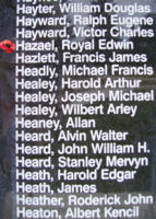 Memorial– Pilot Officer Royal Edwin Hazael is also commemorated on the Bomber Command Memorial Wall in Nanton, AB … photo courtesy of Marg Liessens