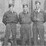 Crew members– Five members of Roy Hazael's original Wellington Bomber crew (before converting to Halifax Bombers.  (L to R) Roy Hazael, Les Anderson, Bill Woodrow, John Lyng and Wel Knowlton.  Hazael and Woodrow were killed in the crash of their Halifax on 28 April, 1944. Photo and Information credit: Airforce magazine, Vol. 23, No.2, Summer 1999.