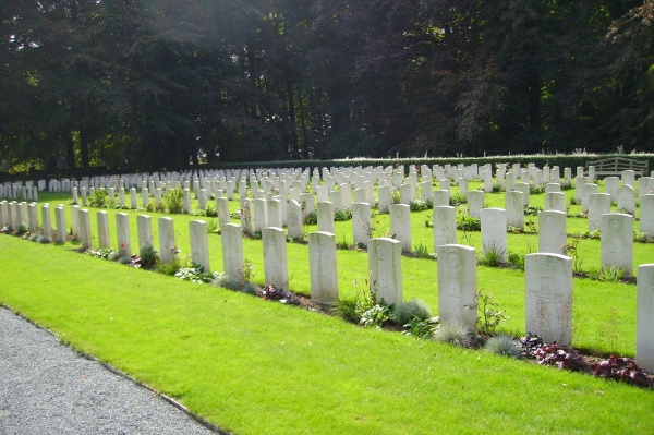 Cemetery– View of Plot 3 … Schoonselhof Cemetery … photo courtesy of Marg Liessens
