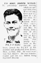 Newspaper Clipping– The Toronto Star, March 2, 1945, page 9