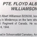 Newspaper Clipping– This obituary of Pte Williamson was written by a relative and appeared in the same issue of the Manitoulin expositor as the photo in this collection.