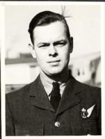 Photo of Donald Stewart Scott– Photograph of F/S Donald Stewart Scott, brother of LAC Kenneth Scott, who was killed on June 24, 1944.  His body was unrecovered and his name is commemorated on the Runnymede Memorial in Surrey, England.   The resting place of his younger brother, Kenneth, is in Myanmar.