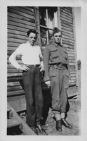 Photo of JAMES EDWARD FAWCETT– L-R Frederick and James. Submitted for the project, Operation Picture Me