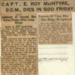 Newspaper Clipping– Obituary of Captain McIntyre
