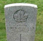 Grave Marker– Gravestone of Capt E R McIntyre in Old Greenwood Cemetery, Sault Ste. Marie, Ontario