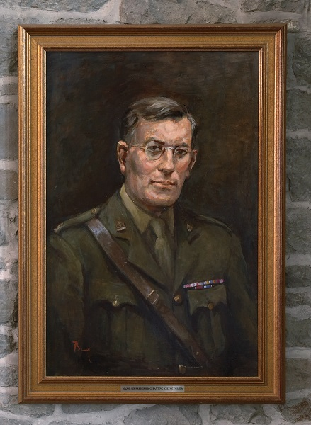 Oil painting of Banting