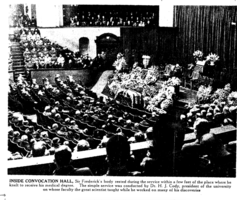 Ceremony– Frederick Banting's funeral. Submitted for the project, Operation Picture Me