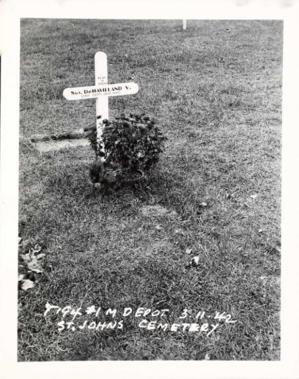 Marqueur de tombe temporaire