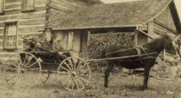 Photo of JOHN WALTER SHAW DIX– John Walter and Alma Dix visiting the farm of Tom Thomson in Woodbridge Ontario.