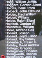 Memorial– Warrant Officer Class II Jack Athelston Hollinsworthjis also commemorated on the Bomber Command Memorial Wall in Nanton, AB … photo courtesy of Marg Liessens