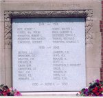War Memorial– Cenotaph at Niagara-on-the-Lake, Ontario comemmorating those of the area who lost their lives in the First and Second World War.