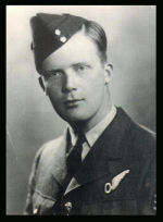 Photo of Joseph Hicks– Sergeant Observer Joseph Melvin Hicks, RCAF, died at age 21 when his Hampden bomber, P5330, crashed at Sonderby Bjerge, Funen (Fyn) Island, Denmark, early on the morning of 25 April 1942. Only one member of the crew of four, a gunner, survived. The bomber had been participated in a  combined RAF/RCAF area-bombing attack on Rostock, Germany. Following the attack, over the Baltic Sea, the bomber began experiencing engine trouble; a German anti-aircraft unit reported hitting a Hampden bomber near Funen Island at about the same time. The Hampden pilot tried to reach neutral Sweden, but had to attempt a landing in a farmer's field. The aircraft apparently stalled and was destroyed in the resulting crash and fire.