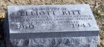 Memorial– Commemorative marker honoring the memory of F/O Elliot Kitt RCAF at Edgewood Cemetery, Chillicothe, Missouri, U.S.A.