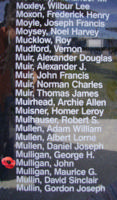 Memorial– Sergeant John Mulligan is also commemorated on the Bomber Command Memorial Wall in Nanton, AB … photo courtesy of Marg Liessens