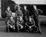 Air Crew Members (2)– 405 Squadron crew (Back row) Bruce Durfee; Ralph Rafter; Denis Budd; Phil Musgrave; (Front Row) Jim Umshied; Ross Wiens; Bud Walter