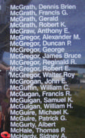 Memorial– Pilot Officer Sidney Alexander Farquharson McHardy is also commemorated on the Bomber Command Memorial Wall in Nanton, AB … photo courtesy of Marg Liessens
